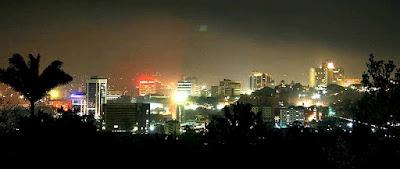 Kampala at night