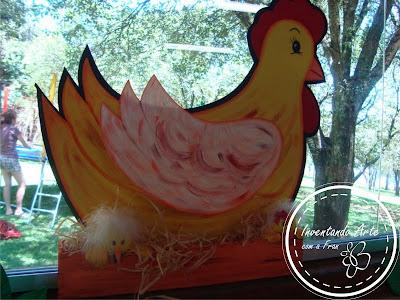 galinha festa fazendinha EVA