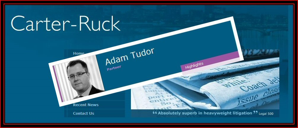 Adam Tudor - Carter-Ruck Solicitors London
