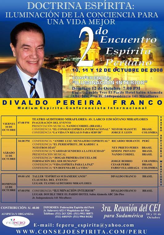 Afiche 2do Encuentro Espirita Peruano