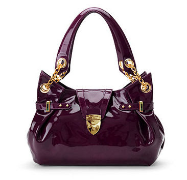 Aspinals Purple Barbarella Leather Handbag