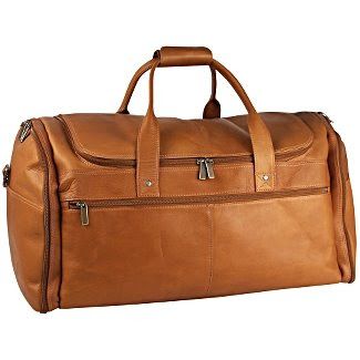 David King Leather Luggage Deluxe Weekend Duffel