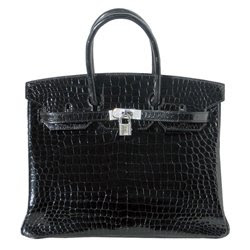 Hermes Birkin Bag Black Crocdile with Diamonds
