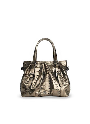 Burberry Alligator Lowry Handbag