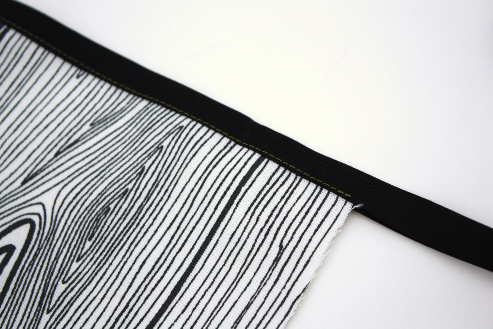 White apron tape - Open The Bias Tape Up And Bring Back Down Toward Next Side Of Apron
