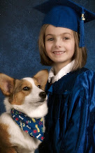 Lindsay with the Corgi