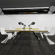 This functional table is perfect for a small studio as the creative hub or .