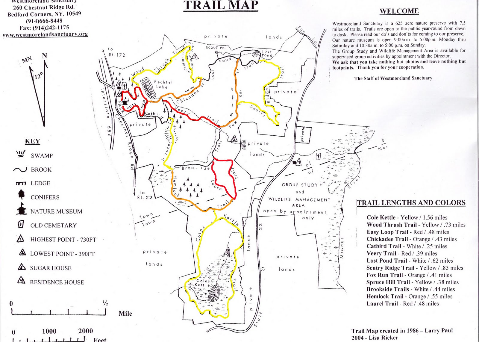 adjacent to both sides of the nature museum is the easy loop trailhead which is the beginning of our 7 5 mile trail system our many trails lead visitors