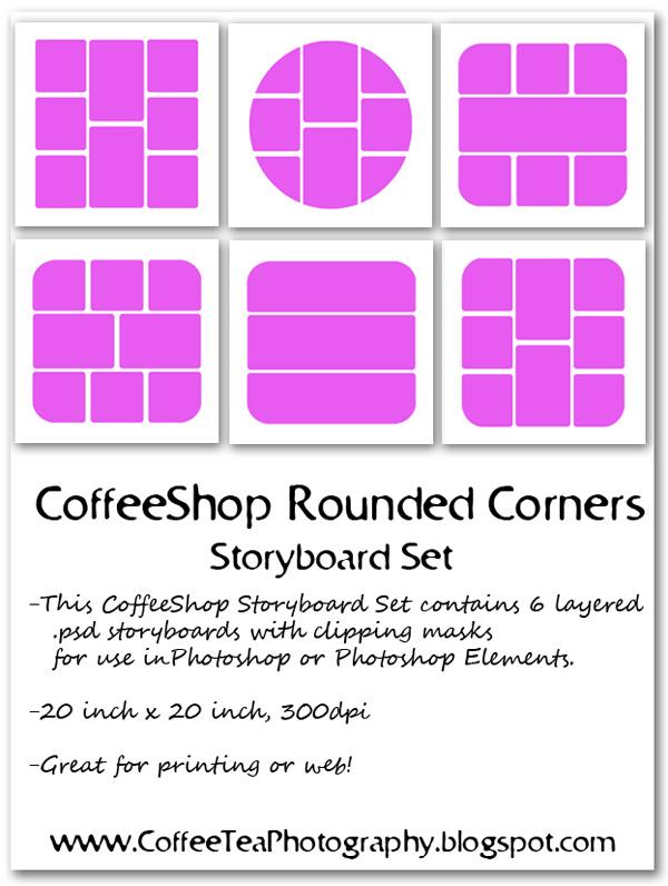 The Coffeeshop Blog Coffeeshop Rounded Corners Storyboard Set