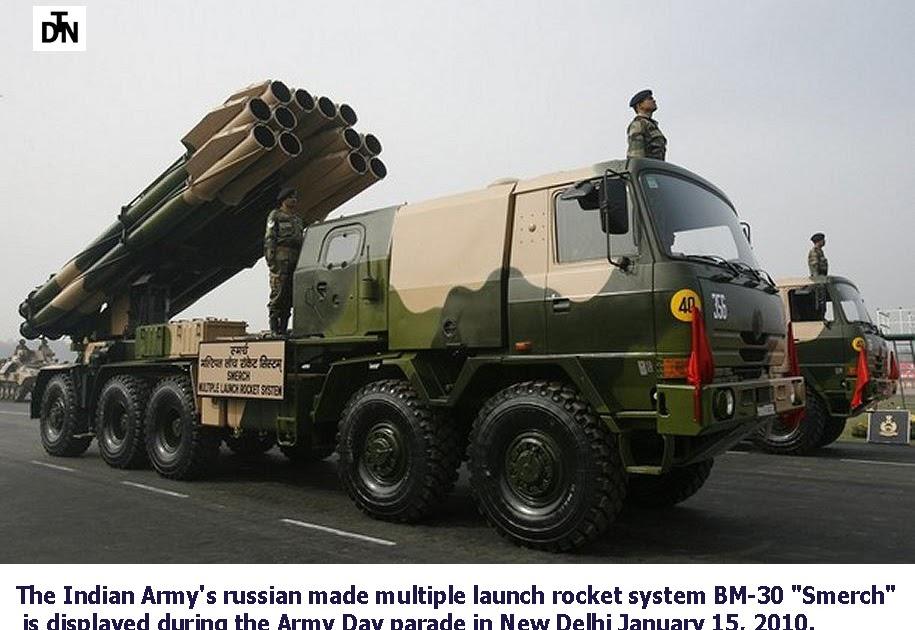 مانوع الراجمه في الصوره ؟ Indian+Army+BM-30+Smerch+DTN