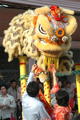 Chinese New Year Lion Dance, Phnom Penh, Cambodia