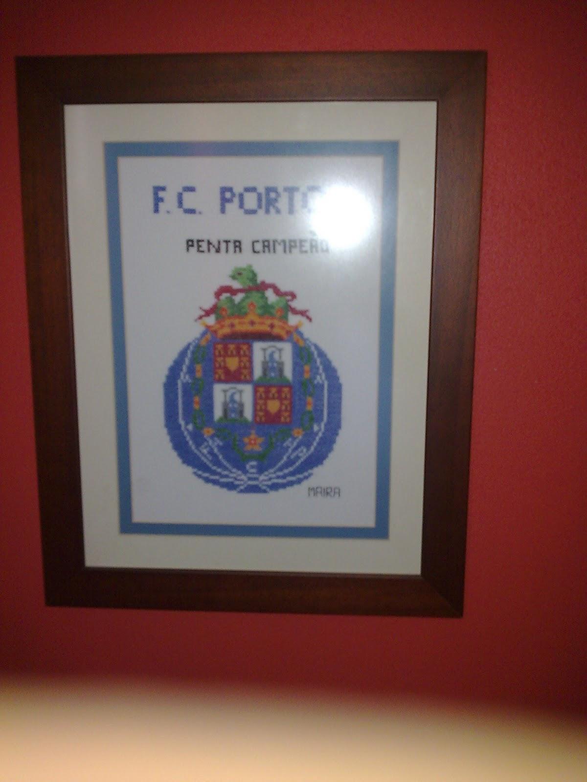 Quadro Em Ponto De Cruz Do Futebol Clube Do Porto   100