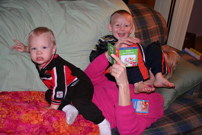 Mom loves the grandchildren!