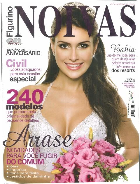 Natália é capa da revista Figurino NOIVAS abaixo fotos para os fãs!