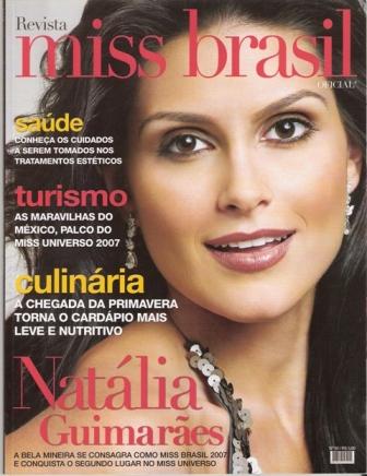 Natália Guimarães é capa da revista Miss Brasil!