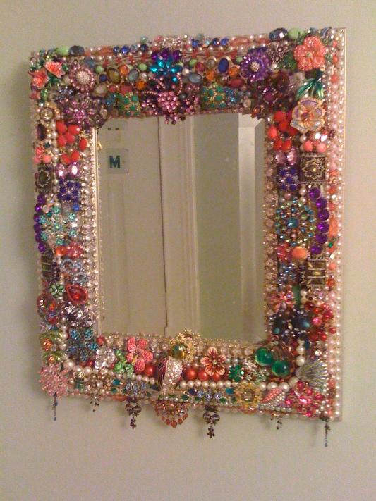 La todera jewelry mirror - Como decorar un espejo ...
