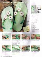 Zapatillas decoradas Chinelo+verde+1