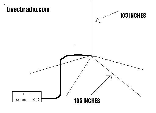 the radio builder  antenna cb radio 105 inch 4 wires