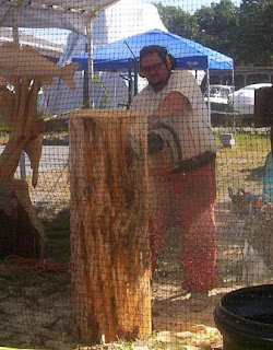 Carving the wood