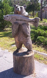 Chain Saw Sculpture Bear