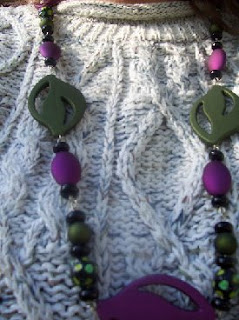 Paper Mache Beads necklace2 image photo picture
