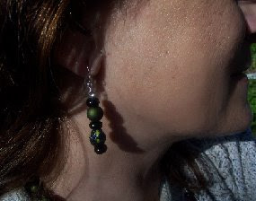 Paper Mache Beads earring image photo picture