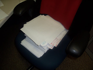 piles of work