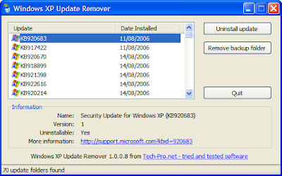 rimuovere aggiornamenti windows