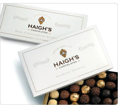 Comida na Austrália haighs truffles