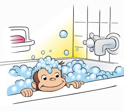 jorge tomando un baño