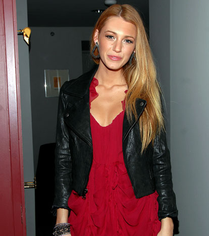 blake lively chanel dress. lake lively sporting a chic