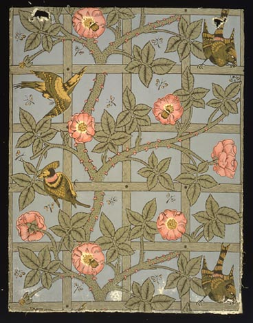 Trellis Wallpaper 1862 From VA Collection