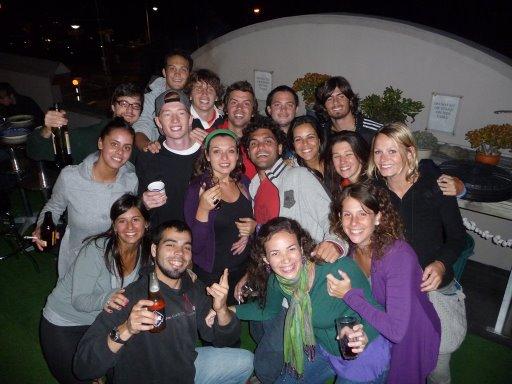 Una foto grupal con los amigos de Harbour Side