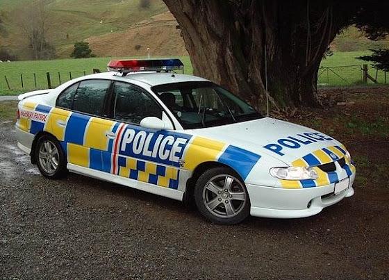 Un carro de la policía en Nueva Zelanda