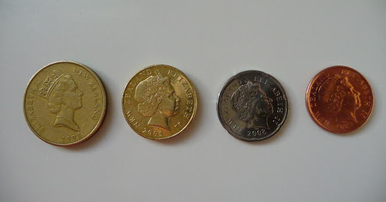 Más fotos de las monedas (fichas) de Nueva Zelanda
