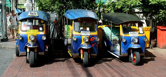 Los famosos Tuk Tuk son un transporte altamente conocido en Tailandia