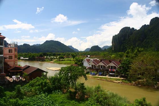 Otra vista de Vang Vieng