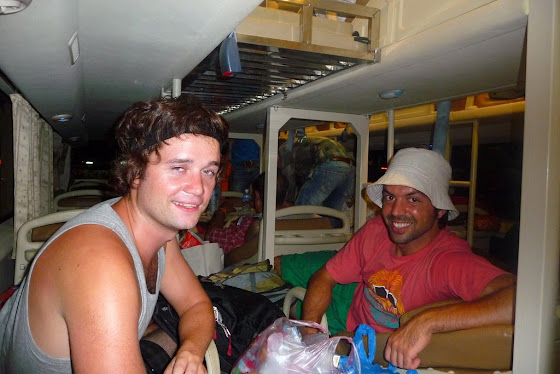 Aquí estoy yo con uno de los pasajeros