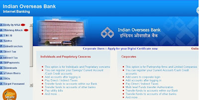 Iob Net Banking - Indian Overseas Bank Online Banking