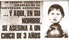 EDUARDO BARRIOS,3 AÑOS,ASESINADO POR TERRORISTAS,EL TAMBIÉN PIDE JUSTICIA¡¡¡