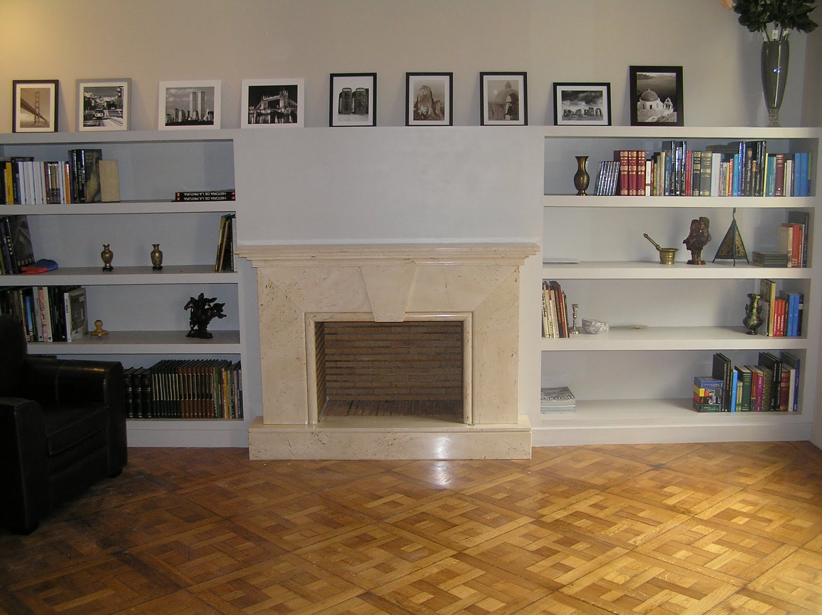 Reformas barcelona stanley 698 372 093 mueble de pladur con chimenea - Muebles para chimenea ...