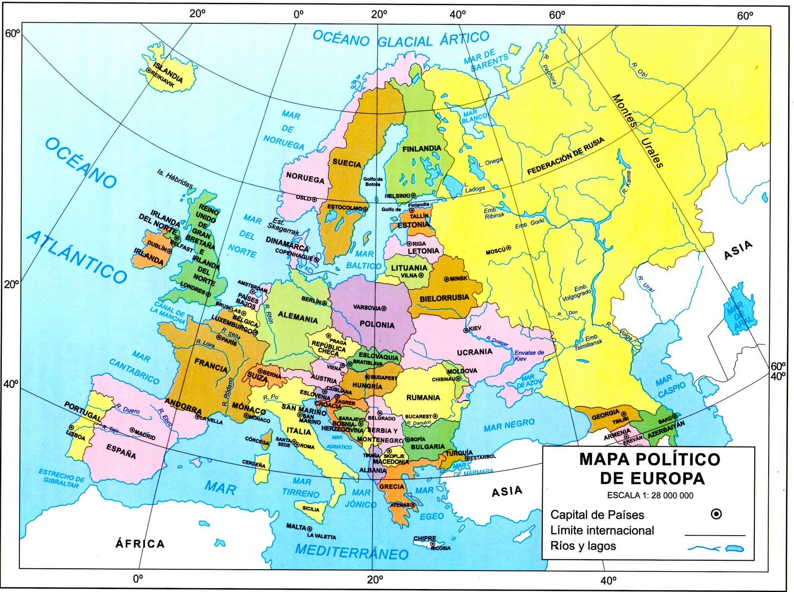 Estados del Continente Europeo