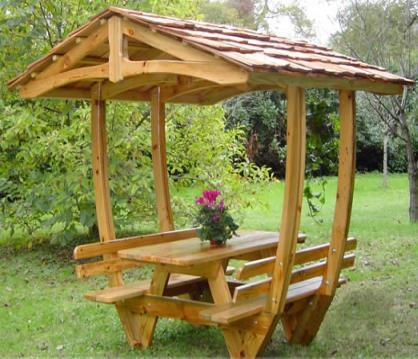 Jardiner a paisajismo mesas de jardin - Mesa de madera para jardin ...