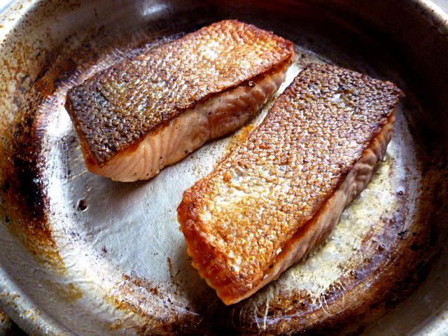 3 Hungry Tummies Crispy Skin Salmon With Warm Beetroot Salad