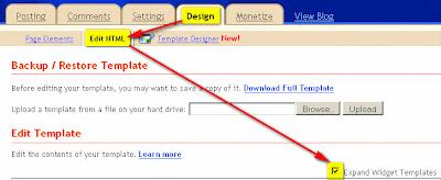 blogger expand widget templates