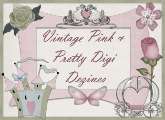 Vintage Pink & Pretty Digi Dezines