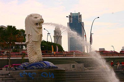 Singapore Merlion Picture Symbol on Singapore Merlion