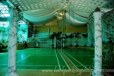 Wedding Receptions Hall on Indoor Reception Hall Events Venue Converted Into A Badminton Court