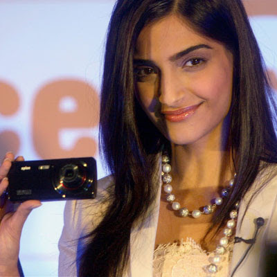 Sonam Kapoor Launched as Brand Ambassador of Spice Mobile