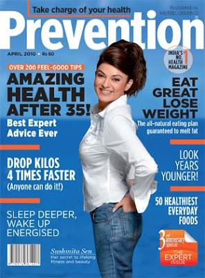 Sushmita Sen on Prevention Magazine